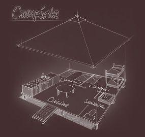 Plan 3D du Campéole